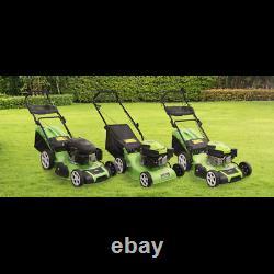 Dellonda Self-Propelled Petrol Lawnmower Grass Cutter 144cc 18/46cm 4-Stroke