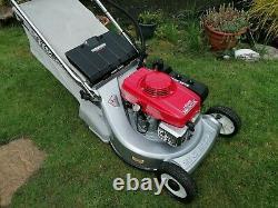 HONDA HR 216 QM 21 Self Drive Electric Start Rear Roller Petrol Lawnmower