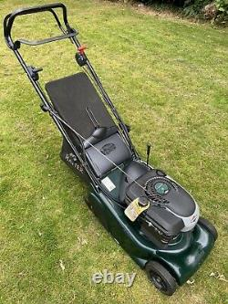Hayter Harrier 41 self propelled lawn mower with electronic ignition via a key