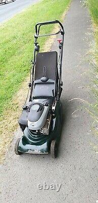 Hayter Harrier 41 self propelled petrol lawn mower with roller key start