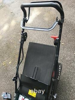 Hayter harrier 48 Instart petrol lawnmower key start self propelled rear roller