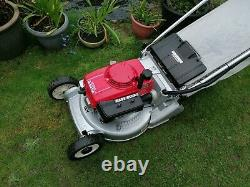 Honda HR194 QX 19 Self drive RotoStop blade clutch Steel roller Lawnmower