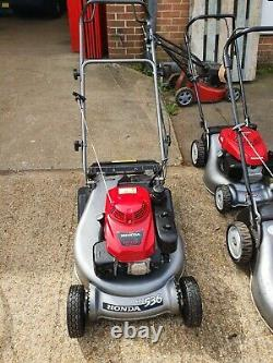 Honda HRD 536 QXE 21Self Propelled Lawn Mower With Rear Roller Fully Serviced