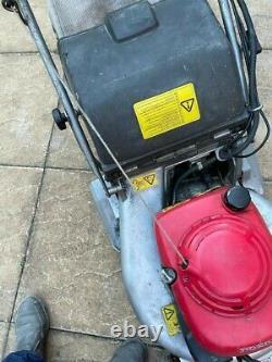 Honda Hrd535 Roller Electric Start Petrol Self Proppelled Lawnmower Running