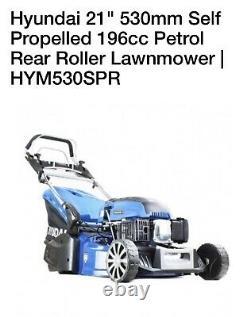 Hyundai HYM530SPER 21 inch Self Propelled Electric Start Roller Lawn Mower