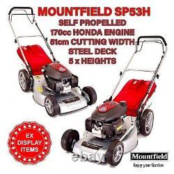 MOUNTFIELD SP53H PETROL LAWNMOWER SELF PROPELLED HONDA ENGINE 170cc 51cm DECK