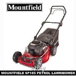 Mountfield Petrol Lawnmower Sp185 Self Propelled Mower 46cm Blade 60l Grass Box