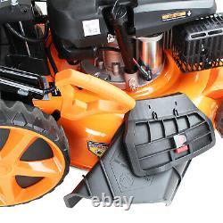 Petrol Lawn Mower Electric Start Self Propelled Lawnmower 173cc 20 51cm 510mm