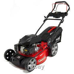 Petrol Lawn Mower Self Propelled 4 Blades Fox 20 51cm 173cc Lawnmower