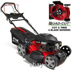 Petrol Lawn Mower Self Propelled 4 Blades Fox 21 53cm 200cc Lawnmower