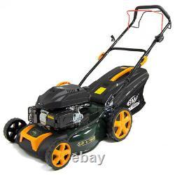 Petrol Lawn Mower Self Propelled BMC 18 46cm 139cc Wolf Engine Lawnmower