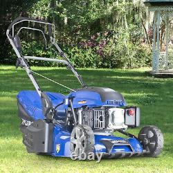 Petrol Lawnmower Rear Roller Self Propelled Electric Start Lawn Mower 43cm 17