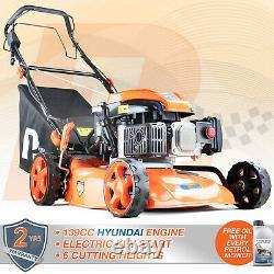 Petrol Lawnmower Self Propelled Lawn Mower ELECTRIC START 139cc 18 46cm