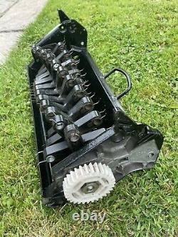 Qualcast Classic 43s Petrol Lawnmower Self Propelled SERVICED Scarifier