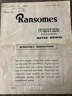 Ransomes Marquis Petrol Cylinder Self Drive 20 Lawnmower
