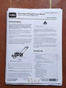 Toro 53cm Super Recycler Lawnmower, self propelled mulching or bagged collection