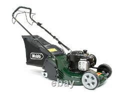 Webb 43cm (17) Self Propelled Petrol Rear Roller Lawnmower- WERR17SP